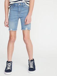 Old Navy Girls' Ballerina Frayed-Hem Denim Shortss Light Sea Size 16 Frayed Hem Jeans, Old Navy Girls, Shop Old Navy, Baby Sale, Girls Jeans, Short Girls, Girls Shopping, Jeggings, Perfect Fit