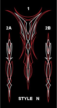 Winners Cycle Graphics Old School DESIGN chart with 26 different pinstripe designs Air Brush Painting, Car Painting, Cb 750 Cafe Racer, Pinstriping Designs, Car Pinstriping, Pinstripe Art, Flame Art, Old School Fashion, Harley Davidson Logo
