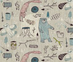 Call of the Wild   fabric by nouveau_bohemian on Spoonflower - custom fabric