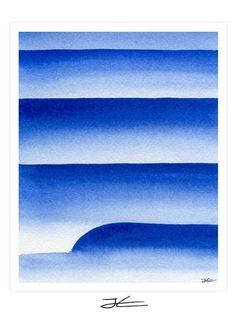 Left / Blue - 1 Art Print