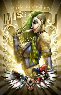 Female Joker, Female Art, Jokers Wild, Art Français, Comic Book Girl, Wolf, Joker Art, Marvel, Arte Horror