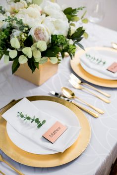 Find Your Wedding Style - Glam Details for the Perfect Luxe Wedding // Copper Wedding Place Cards by www.ZCreateDesign... or Shop on Etsy by Clicking Pin