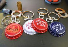 Nuka Cola and Sunset Sarsaparilla keychains $10. #fallout
