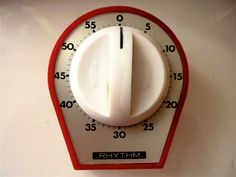 vintage kitchen  timers | Vintage Kitchen Timer, Retro Egg Timer, Red White Metal, Friendly Tone