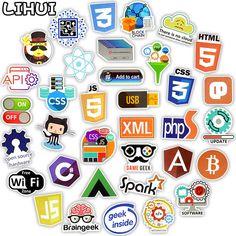 50 Developers Docker Hacker Programmer Funny Language Programming Rental Sticker