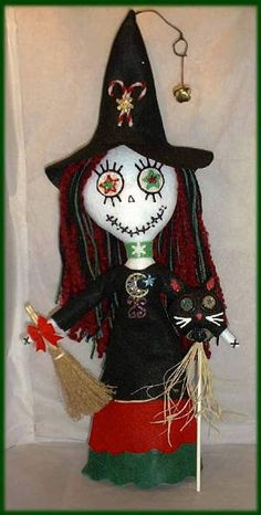 "Yule Witch | The ""Perfect"" Halloween Witch Rag Doll"