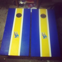 University of Delaware cornhole.  One of my favorite sets we've made.