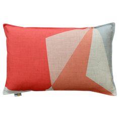 Coral Geometric Designer Cushion   Urban Couture - Designer Homewares & Furniture Online