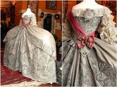 listed as the wedding gown of Catherine the great. It could be the same gown as the other gown listed as her wedding gown, with sleeves and sash added. gogmsite.net