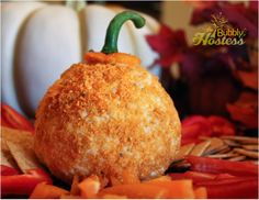 Pumpkin Cheese Ball - Easy Thanksgiving Appetizer | The Bubbly Hostess