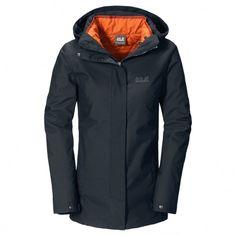 De @jackwolfskin Vernon #winterjas voor dames is ontzettend veelzijdig: je kunt de #jas met of zonder het inritsbare jack dragen.