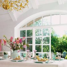 Arched French door windows
