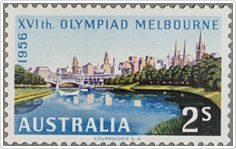 1956: Australia's first ever multi-coloured stamps were issued to commemorate the Melbourne Olympics. Learn more about Australia Post's history here: http://auspo.st/1C0gYkJ