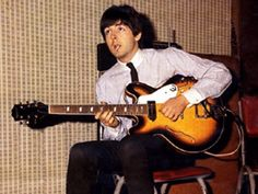 Paul with his Epiphone Casino, 1965