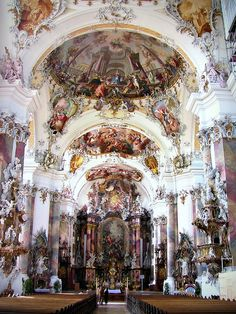 Formerly a Benedictine abbey, Ottobeuren Abbey Basilica is now a priory near Memmingen in the Bavarian Allgäu. It was founded in 764 by Blessed Toto, and dedicated to St. Alexander, the martyr.