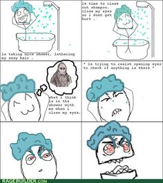 This is EXACTLY what I do when I get in the shower..