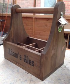 Personalised Beer trug caddy holder tool box by Jandjwoodworks1
