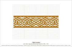 Boulghar- Romanian design - Would love to see this design with card wearving. Folk Embroidery, Embroidery Patterns, Cross Stitch Borders, Cross Stitch Patterns, Pattern Books, Hama Beads, Beading Patterns, Pixel Art, Diy And Crafts