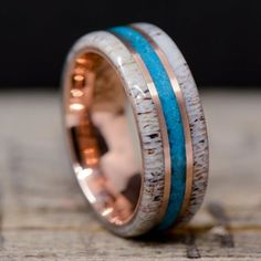 Wood Rings, Stone Rings, Engraved Rings, Unique Rings, Antlers, Cool Gifts, Wedding Rings, Wedding Stuff, Rings For Men