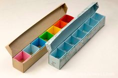 Origami Pill Box / Organizer Video Tutorial, Learn how to make a pretty and useful origami pill box with 7 sections for each day of the week, you could use this to organise beads, pins, loom bands, gems and other small items!