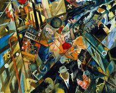 George Grosz: Tempo der Strasse (The Tempo of the Street), Photograph: Courtesy Richard Nagy Ltd. Ludwig Meidner, George Grosz, Singular, Art Students League, Political Art, World War One, Environmental Art, City Art, Dibujo