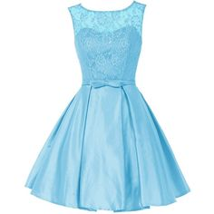 Wedtrend A Line Girls Floral Lace Dress Homecoming Dress Party Dress... (£74) ❤ liked on Polyvore featuring dresses