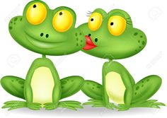 Illustration of Frog cartoon kissing vector art, clipart and stock vectors. Christmas Tree Template, Christmas Tree Crafts, Funny Frogs, Cute Frogs, Frosch Illustration, Cartoon Kiss, Frog Rock, Tea Light Snowman, Frog Tattoos