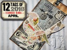 Tim Holtz 2016 REMIX TAG - love the mosiac bird! Tim Holtz supplies available at craftysaver.com for 30% off most items:)