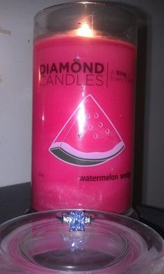 Watermelon Wedge diamond candle! burn the candles and it will have a ring that is worth anywhere from $10 to $5000!