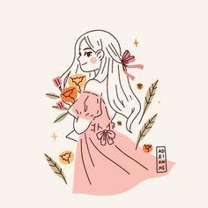 Doodle Drawings, Animal Drawings, Cute Drawings, Cover Wattpad, Character Art, Character Design, Illustrators On Instagram, Cartoon Art Styles, Kawaii Art