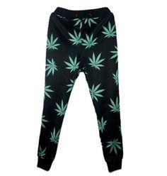 d21aa207feff New Harajuku women/men black weed leaf joggers pants 3D print sport  sweatpants full length