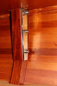 Western red cedar hull.  Main chainplates and frame.