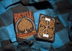 """The 2nd Edition of the """"Lumberjack"""" themed Bicycle® playing cards. 56 custom cards, made in the USA and printed by USPCC."""