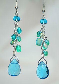 Silver & Turquoise Briolette Dangles