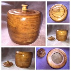Hand Turned Cherry Wood Bowl, Bowl with Lid, Wood Container by TrailOfThreads on Etsy https://www.etsy.com/listing/217509673/hand-turned-cherry-wood-bowl-bowl-with