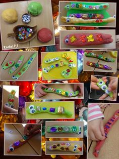 "Play dough snakes and worms for pattern and length work from Rachel ("",) Eyfs Activities, Spring Activities, Activities For Kids, Crafts For Kids, Maths Eyfs, Eyfs Classroom, Measurement Activities, Indoor Activities, Minibeasts Eyfs"