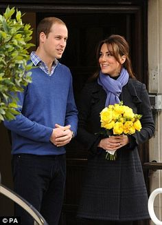 The pregnant Duchess of Cambridge smiled today as she left hospital after four days of treatment.