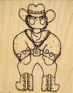 November Cody Cowboy JRL Design CC23 Country Western Rubber Stamp  #JRLDesign