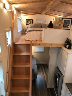 This is Troy & Krista's 25 ft. Castle Peak Tiny Home in North Bend, Washington. It's a fully-customized THOW built for them by Tiny Mountain Homes, and they've been living ins…