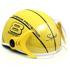 Mũ bảo hiểm có kính chắn gió an toàn và thời trang