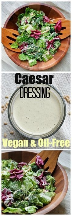 The most amazing Caesar dressing that is vegan and oil-free and a favorite among readers! Takes just 5 minutes to make!