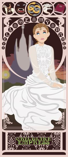 Childlike Empress Nouveau - Neverending Story Art Print by CaptainLaserBeam | Society6