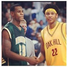 Lebron James + Carmelo Anthony    Throwback