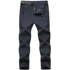 's Traveling Outdoor Spring Summer Thin Pants Elastic Waist Soft Shell... ($36) ❤ liked on Polyvore featuring men's fashion, men's clothing and mens sports apparel
