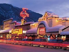 The Cowboy Bar in Jackson Hole. A Jackson Hole institution. Great Places, Places To See, Beautiful Places, Grand Teton National Park, National Parks, Jackson Hole Town, Jackson Hole Wyoming, Le Far West, Vintage Travel Posters