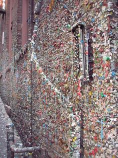 "Gum Wall; Post Ally Seattle (2nd ""germiest"" tourist destination in the world)"