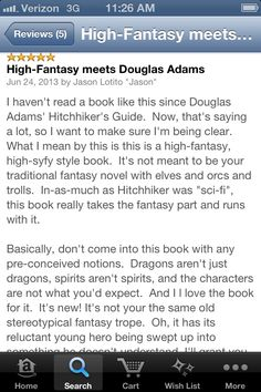 #book #review #robots #hitchhikersguide #theshadowofthegauntlet Douglas Adams, Hitchhikers Guide, High Fantasy, Book Review, Robots, Books To Read, Things I Want, Novels, Sayings