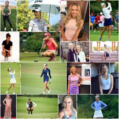 From brand ambassador to professional golfer, these women are leaving their mark on the game of golf. Cheyenne Woods, Blair O'neal, Lexi Thompson, Lpga Tour, Wake Forest University, Michelle Wie, Sexy Golf, Golf Videos