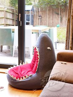 Shark BeanBag chair! My future apartment's gonna look ridiculous between this and the t-rex stuff I want to decorate it with.