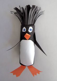 Cute penguin craft to make with your students.